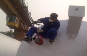 液化空气罐体管道高效切割--RIDGID铰接式重负荷管割刀