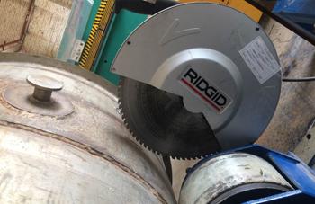 助力军工特种金属高效切割,RIDGID 614型干切锯