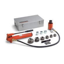 """HKO-186 1/2""""-2"""" 液压套件及手动泵(包括 2 个牵引螺栓、牵引杆、隔块、3' 软管)"""